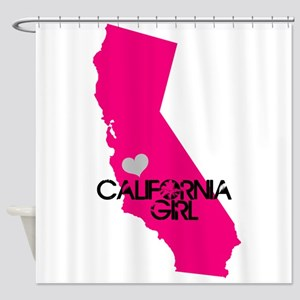 CALIFORNIA GIRL w HEART [4] Shower Curtain